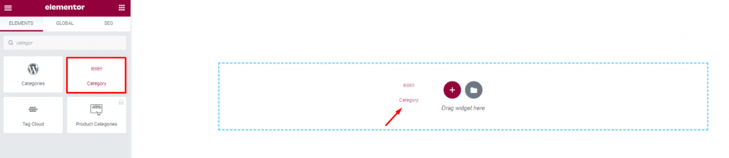 inserting post Category widget