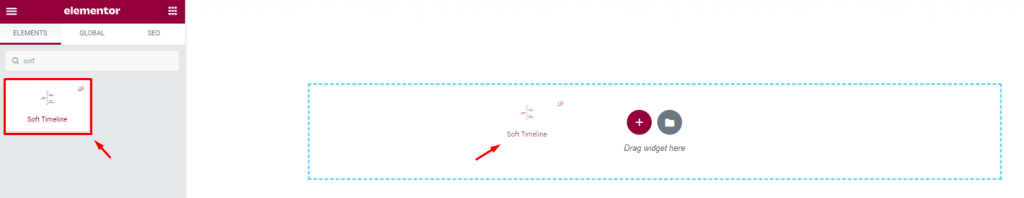 inserting soft elementor timeline widget