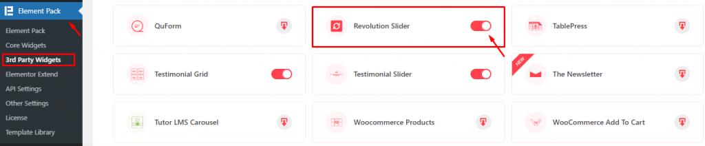Installing Revolution Slider widget