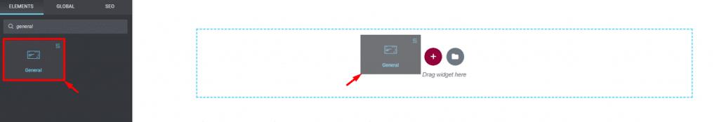 inserting General Widget with Meteor Skin